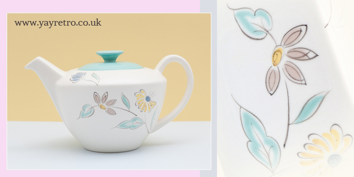 Summer Days tea pot from Poole Pottery for sale at yay retro! online vintage china shop for collectors or replacement china