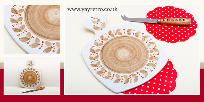 Jersey Pottery cheese board from yay retro! vintage china shop