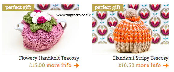 tea cosies from yay retro!