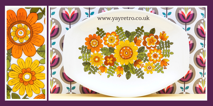 Wonderful vintage melamine style tray from Italy at yay retro!