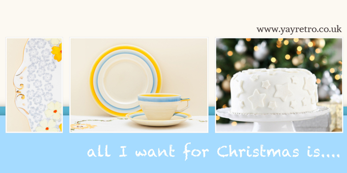 All I want for Christmas is vintage china from yay retro!