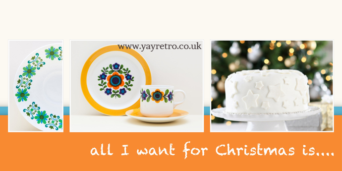 Scandinavian 70s Style Vintage china from yay retro!