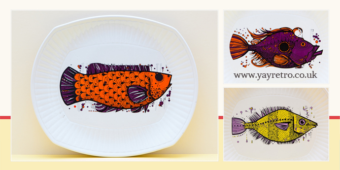 Aquarius fish plate series from yay retro! in excellent condition