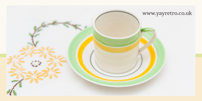 art deco china for Christmas from yay retro!
