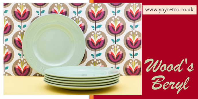 Woods Beryl tea plates, cups and saucers for sale from yay retro! online china shop