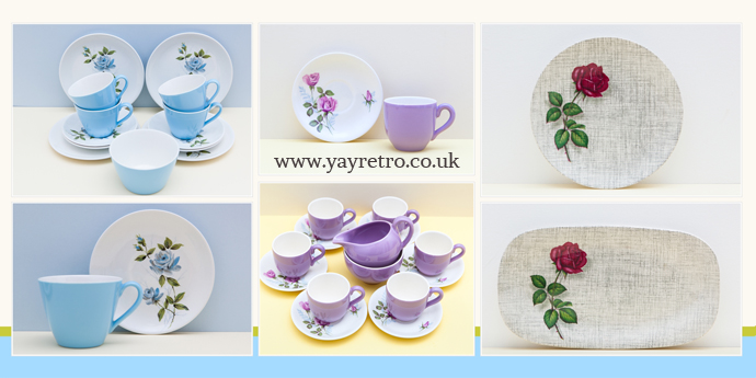 vintage china 1950s roses by johnson bros and meakin from yay retro! online china shop