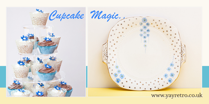 yay retro! sell vintage china online, and recommend cupcake magic of Hythe