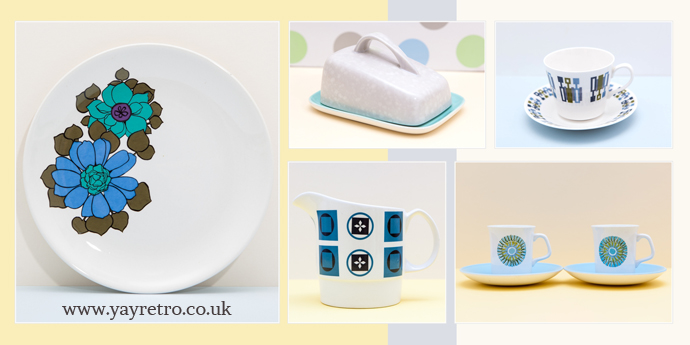 blue vintage china and tea sets from yay retro! online shop
