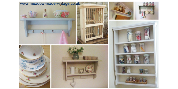 yay retro supply vintage and retro china, they love meadow made vintage who make antique shelves perfect for shabby chic lifestyle