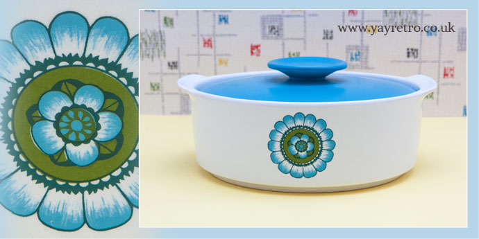 JG Meakin Capri 1970s turquoise vegetable serving dish from yay retro online shop for retro and  sc 1 st  Yay Retro & Trendy Tableware from the 60s and 70s - Vintage Shop Retro China ...