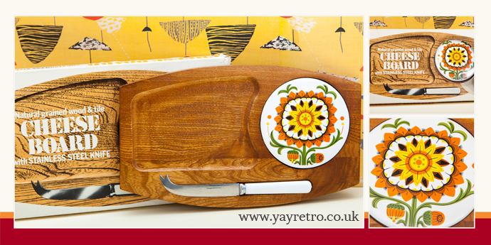 vintage cheese board in box from yay retro! shabby chic china on sale