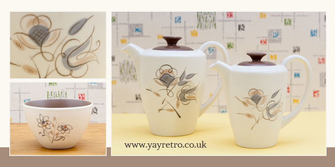 Trudiana Coffee and Hot Water Pots from Poole Pottery. Buy online at yay retro!