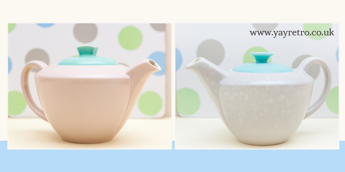 poole pottery streamline twintone teapots for sale at yay retro!
