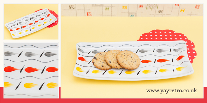 a 1950s sandwich or hors d'oeuvres dish from yay retro! online shop for retro china and glassware