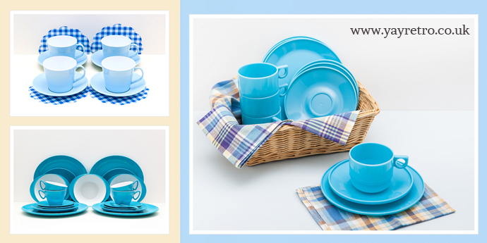 Vintage Picnic sets in Blue from yay retro!