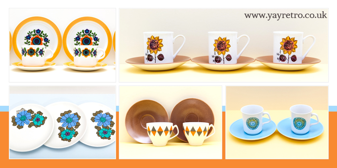 1960s and 70s styling for cafes, restaurants, shops, businesses get the look from yay retro! vintage china shop