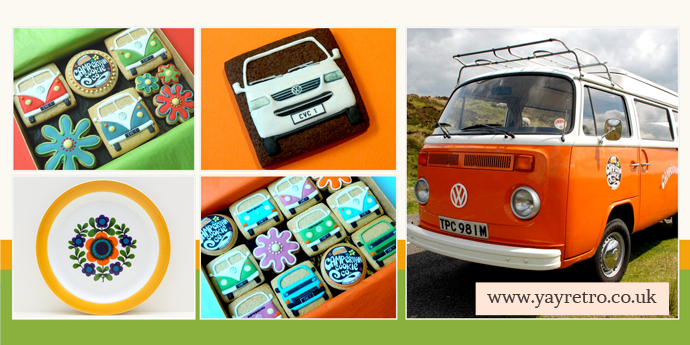 campervan cookies and yay retro! vintage china shop meet up online!