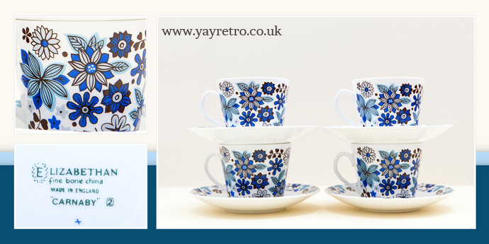 Elizabethan Carnaby teaset sold in a day by yay retro! online vintage china shop