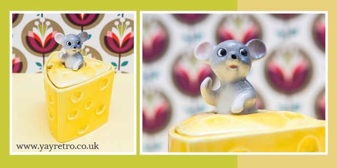 1970s mouse in a cheese pot from yay retro!