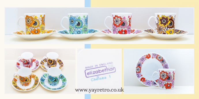 Elizabethan Chelsea Tea set from yay retro! online vintage china shop
