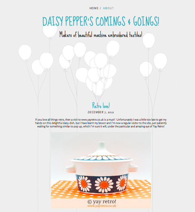 yay retro! feature on daisy peppers blog