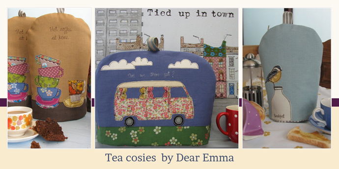 dear emma tea and cafetiere cosies feature on yay retro! the online shop for vintage china