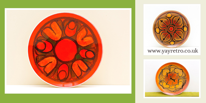 Poole Delphis and Aegean plates at yay retro! who love Poole Pottery!