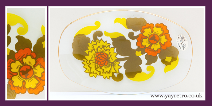 Fiona glass tray - like Chance glass from yay retro! £7.50