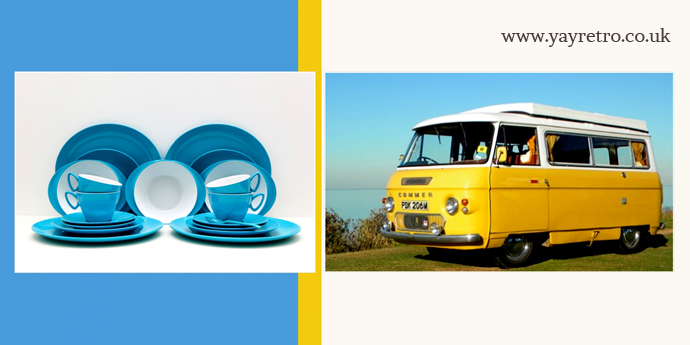 The Glampervan Hire Company talk to yay retro! online shop for vintage melamine