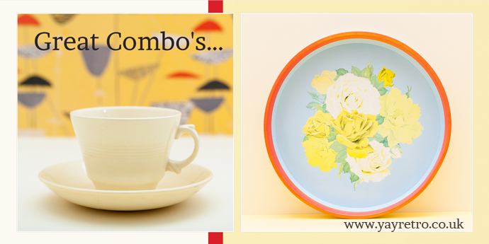 Great vintage items from yay retro! including Woods ware Jasmine and retro tin trays