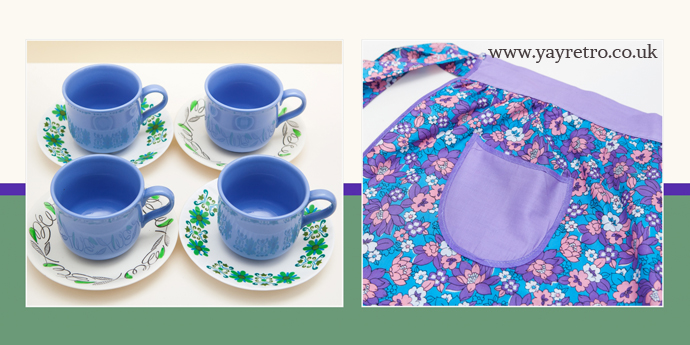 fun mix and match vintage teasets from yay retro!