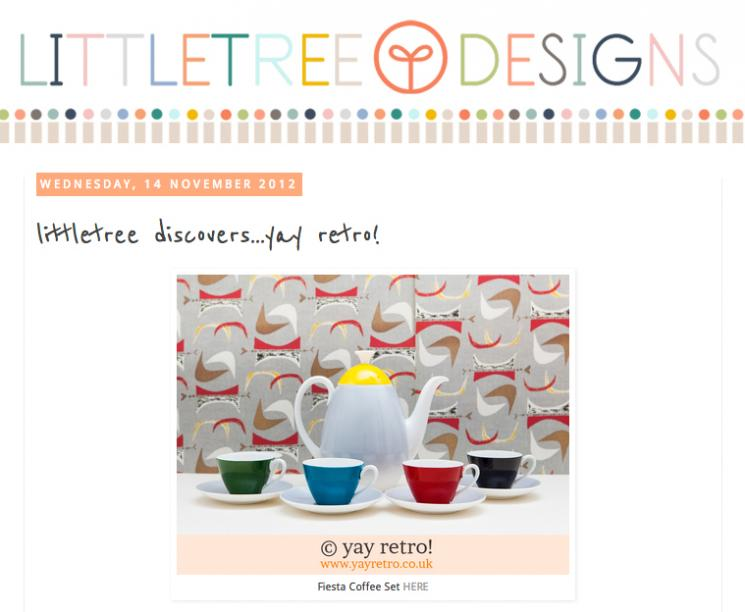 yay retro! vintage china features on Littletree Designs