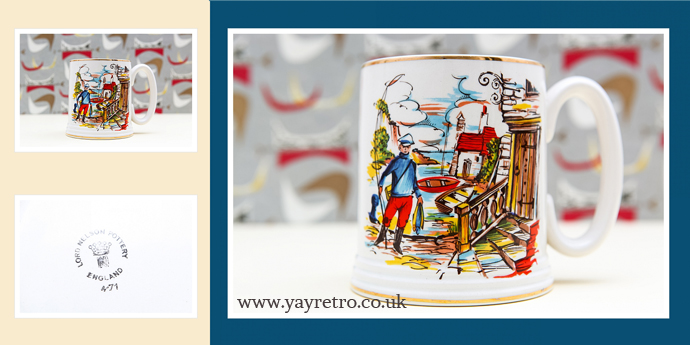 Lord Nelson rare Kitsch Fisherman Tankard 1950's design from yay retro!
