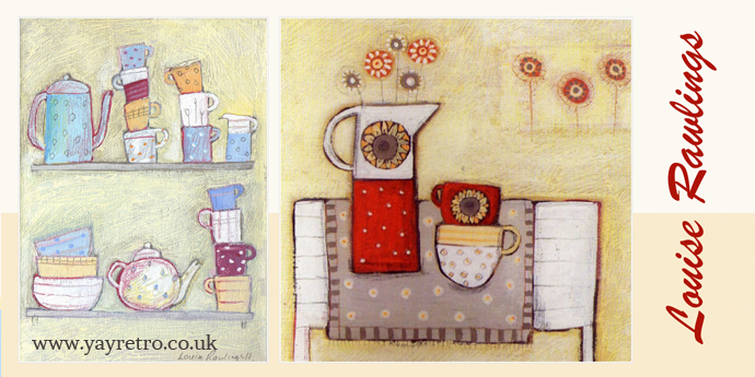 Louise Rawlings painter talks to yay retro! about her vintage china inspired work
