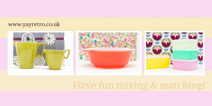 mix and match vintage kitchenalia, melamine  and china at yay retro! online retro homeware shop