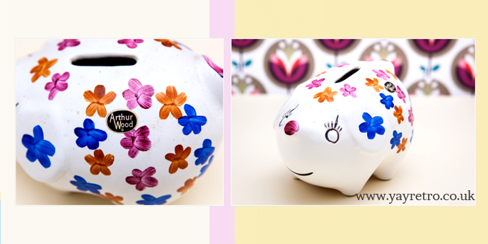 Arthur Woods Floral, Flowery Pig in perfect condition from yay retro! online vintage china shop