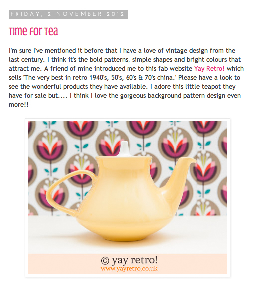 yay retro! vintage china feature on pink amaryllis blog