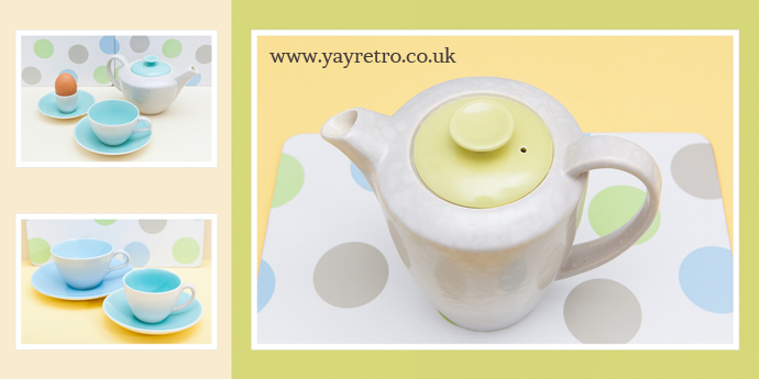 Twintone Poole Pottery in dedicated section of the yay retro shop!