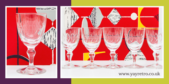 Vintage Crystal Port or Sherry Glasses from yay retro!