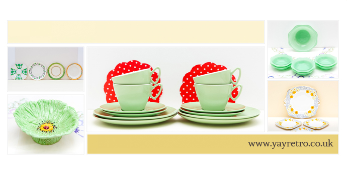 pretty vintage items from the 30s, 40s, 50s, 60s, 70s at yay retro! online china shop