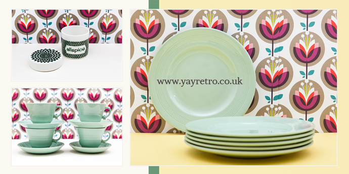 Large sized Beryl cups, saucers and plates from yay retro! vintage china online shop