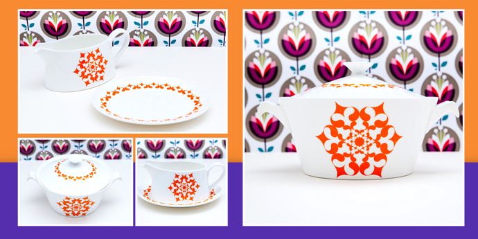 Royal Tuscan Satsuma Fine Bone China Tableware from yay retro! from just £9.50