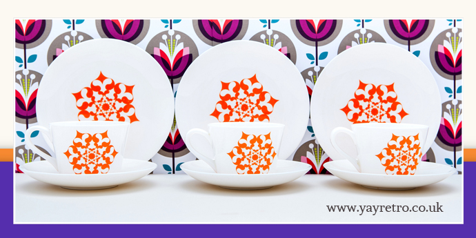 Royal Tuscan fine bone china trio of cups, saucers and plates £10.50