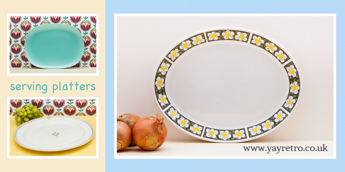 Oval Vintage Serving or Meat Platters from yay retro! online replacement and collectors china shop