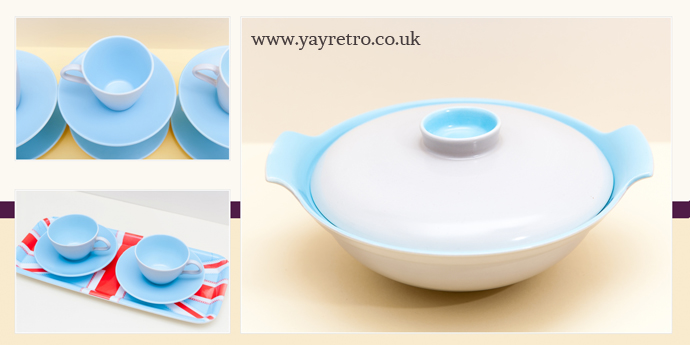 Sky Blue and Dove Grey Poole Pottery from yay retro! online vintage china shop