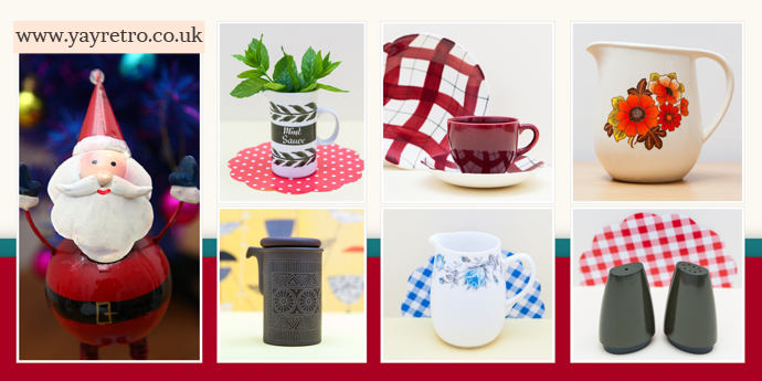 Vintage stocking fillers from yay retro! online china shop and kitchenalia, including melaware