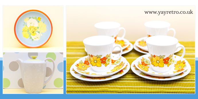 yellow vintage china and kitchenalia from yay retro! online china and replacement china shop