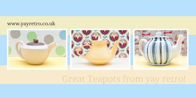 vintage teapots for sale from yay retro!