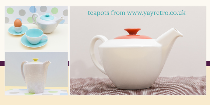 vintage Poole Pottery teapots from yay retro! online china replacement shop