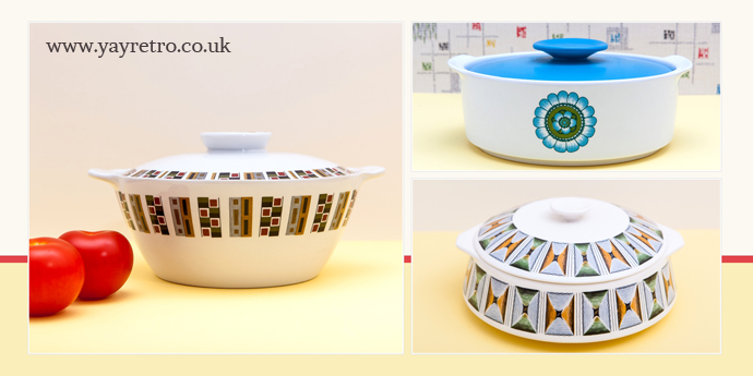 Vintage serving dishes from 1960s and 70s from Poole, Meakin and Lord Nelson, at yay retro! online vintage china shop